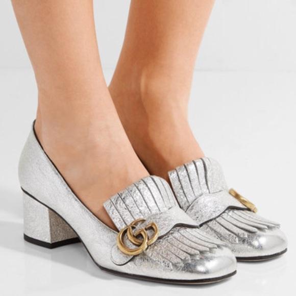 e43339d27 Gucci Marmont Kiltie Fringe Silver Heels. M_5babbb58e944ba4287ca6190